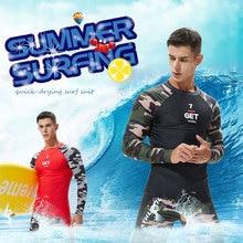 Мужской Камуфляжный Быстросохнущий дышащий костюм для серфинга защита от ультрафиолета для серфинга Рашгард для серфинга рубашка с длинным рукавом брюки для мужчин купальник