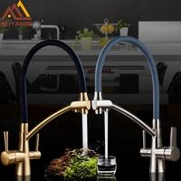 Quyanre Kitchen Sink Faucet Kitchen Mixer Tap Torneira Purified Water Faucet Drinking Tap Mixer Water Filter