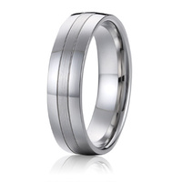2015 Classic Design Mens Health Pure Titanium Wedding Band Promise Ring For Men Anel