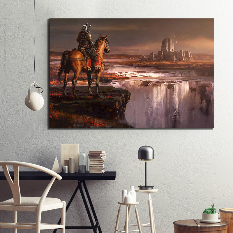 1 Piece Video Games The Witcher 3 Wild Hunt Poster  Artwork Paintings Canvas Art for Home Decor Wall Art