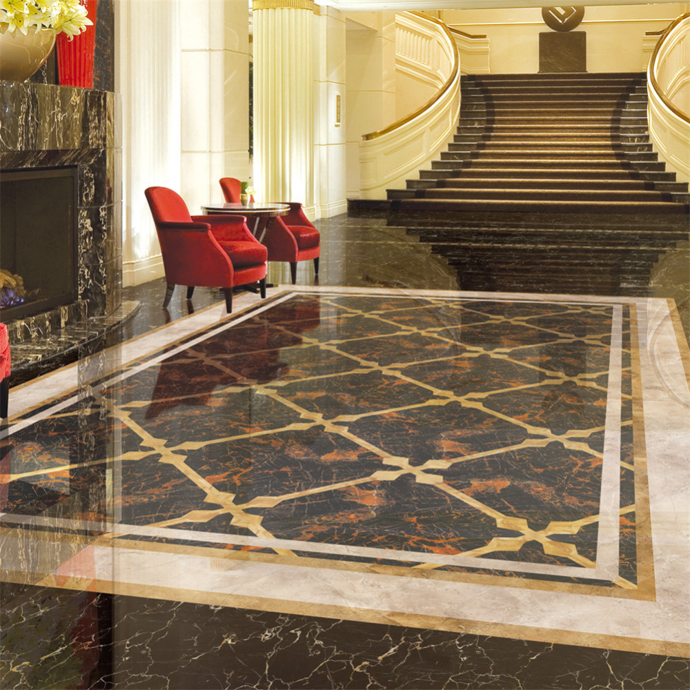 European Marble Pattern Diy Tile Floor High End Decorative Line Stickers Flooring Wall Sticker 5 10 20 500cm In From Home