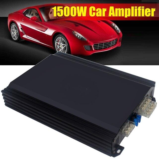 Cheap KROAK 1500W Mini Portable Car Amplifier Speaker 4 Channels Vehicle Aluminum Alloy Powerful Stereo Player Car Audio Subwoofer