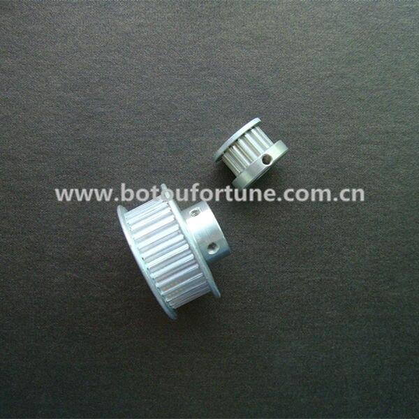 Alumínio polia cronometrando T5 28 dentes 10mm furo 10 cinto seis milímetros de largura e 1570 T5 10 PU withsteel núcleo correia dentada um pacote - 2