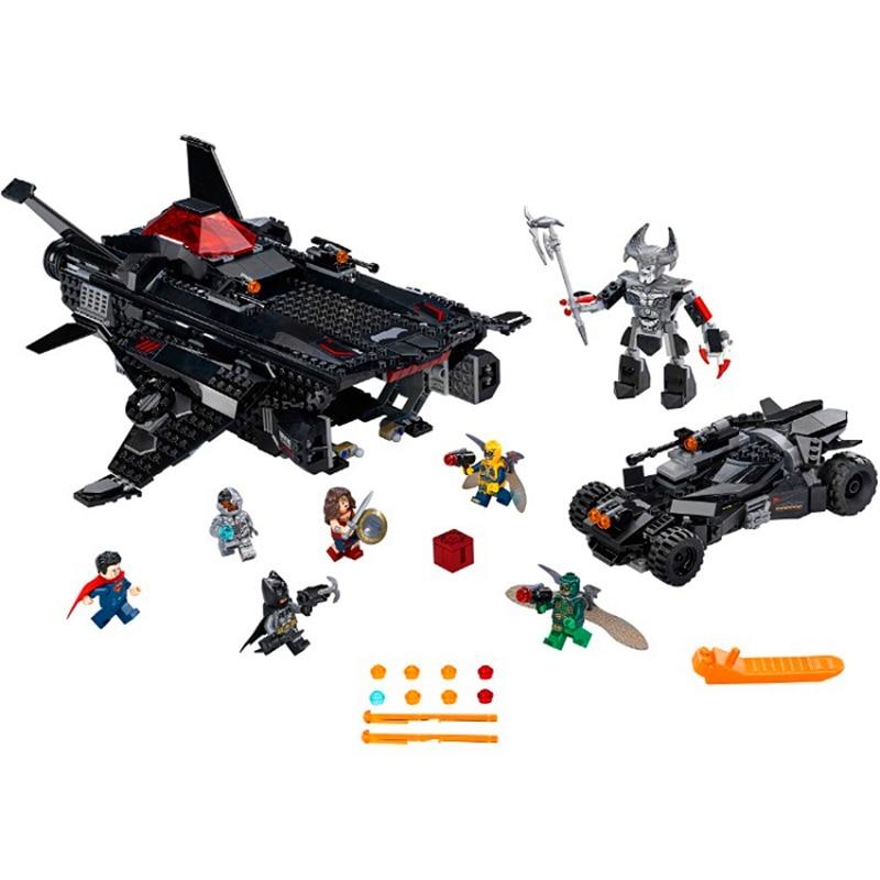 BELA 10846 Heroes Batman Flying Fox Batmobile Airlift Building Blocks Brick Compatible 76087 Playmobil Toys