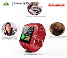 Bluetooth Smart Uhr Smartwatch U8 U80 u MTK Freisprecheinrichtung Digital-Uhr Armband Sport Armband für Android-Handy Samsung iPhone