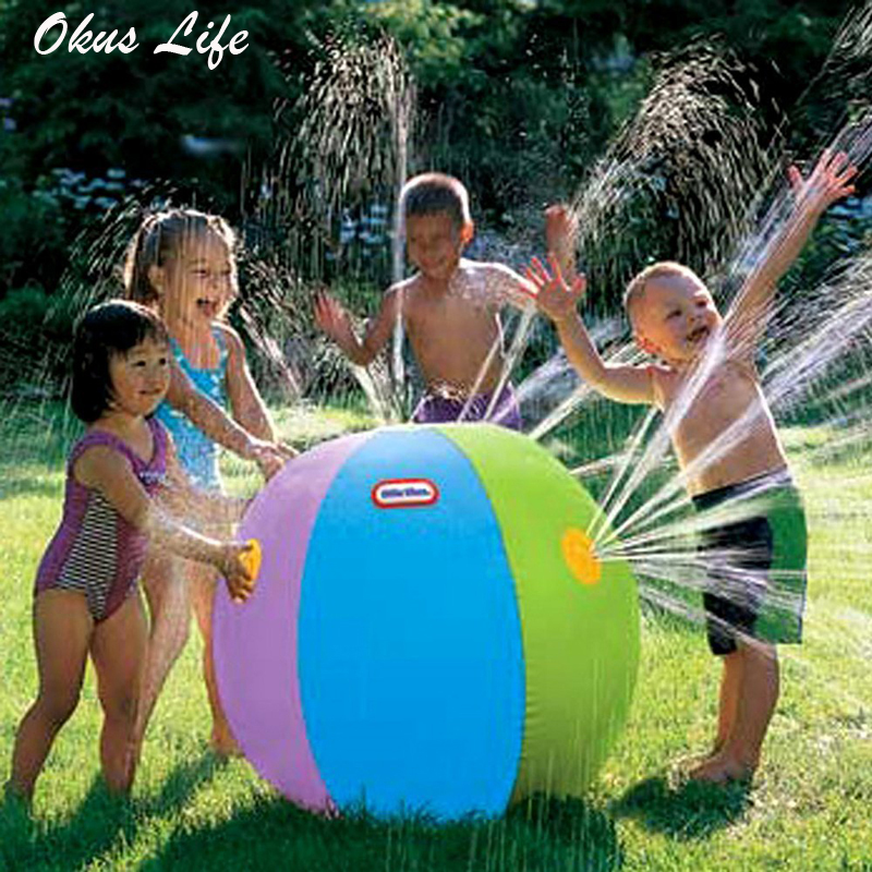 75cm Inflatable Outdoor Garden Set Beach Water Ball Lawn Play Ball Bath Swimming Toy Summer Party Bath Toys Kid Toy For Children