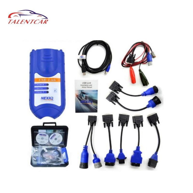 Professional Truck Diagnostic NEXIQ USB Link Nexiq 125032 With All Adapters For Diesel Truck Diagnostic Tool