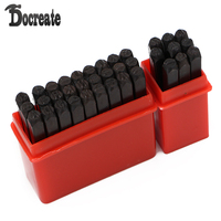 36pcs 4mm Stamps Letters Alphabet Numbers Set Punch Steel Metal Tool Craft