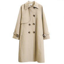 High quality Fashion Long Trench Coat Women Casual Tops Larg