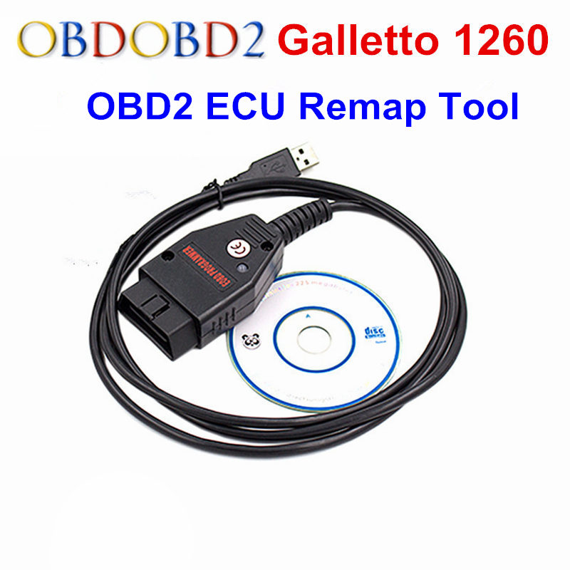 Prix pour OBDII Galletto 1260 ECU Remap Flasher Outil EOBD OBD2 Adaptateur Galletto 1260 ECU Chip Tuning OBDII Voiture Diagnostic Interface Outil