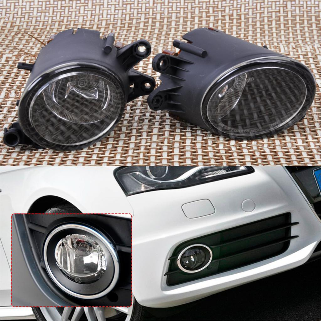 DWCX Black Pair Left Right Fog Light Lamp 8E0941700B 8E0941699B for Audi A4 B7 Quattro 2001 2002 2003 2004 2005 2006 2007 2008 2pcs right left fog light lamp for b mw e39 5 series 528i 540i 535i 1997 2000 e36 z3 2001 63178360575 63178360576