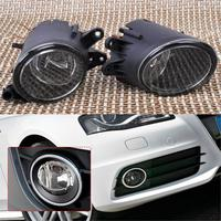 DWCX Black Pair Left Right Fog Light Lamp 8E0941700B 8E0941699B for Audi A4 B7 Quattro 2001 2002 2003 2004 2005 2006 2007 2008