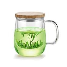 Samadoyo 500 ml Hitzebeständigem Glas Teekanne Büro Tee Becher Hohe Borosilikatglas Teetasse mit Tee-ei Handwerk und geschenke