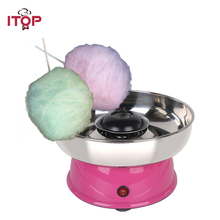 ITOP Mini Electric Cotton Candy Maker Machine Household DIY Sugar Children Birthday Gift EU Plug