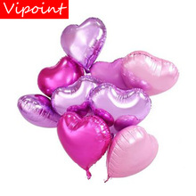 VIPOINT PARTY 18inch gold pink silver yellow heart foil ballon wedding event christmas halloween festival birthday party PD-118