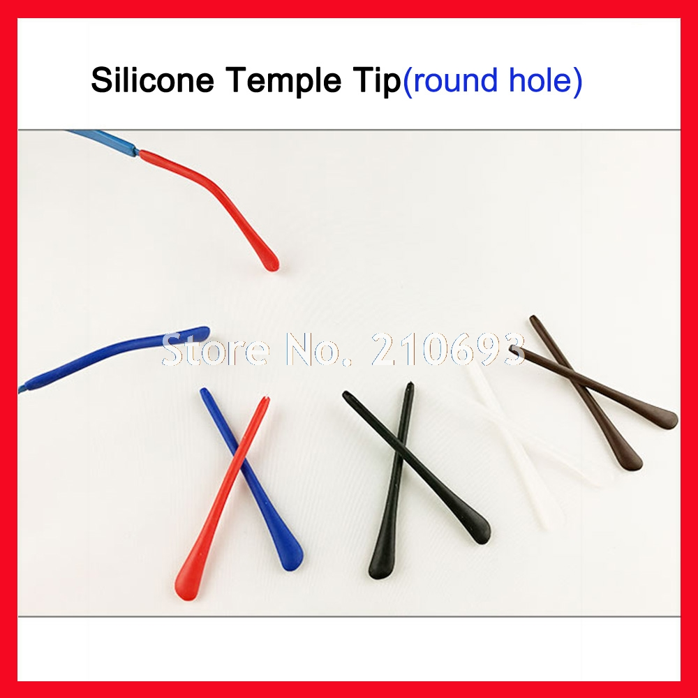 20pcs DT002 Soft Silicone Anti Slip Eyeglasses Glasses Temple Tips Accessories Optical F ...