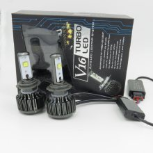 V16 turbo H7 H11 9005 9006 LED H1 H3 H8 H9 H10 880 881 60W/set 7200LM LED Headlight Conversion Kit(China)