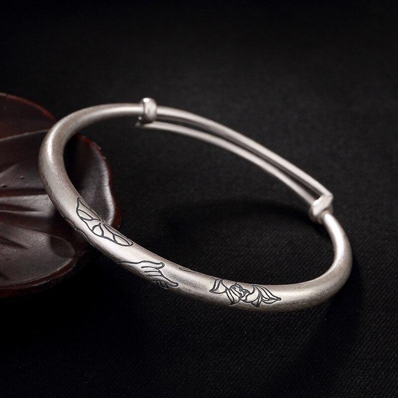 Citron au doigt, fleur de lotus, nuage de bon augure, dame ancienne, bracelet push and pull de dame, bracelet, vente en gros.
