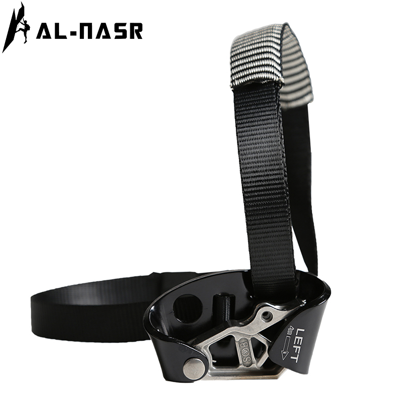XINDA AL-NASR Camping Rock Climbing Safety Equipment Left Foot Ascender With Pedal Belt Grasp Rope Gear Anti Fall Off Survival