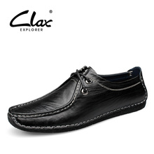 Clax Men Boat Shoes Leather Spring Summer Autumn Men's Loafers Casual British Moccasin Male Driving Shoe Elegant Classic