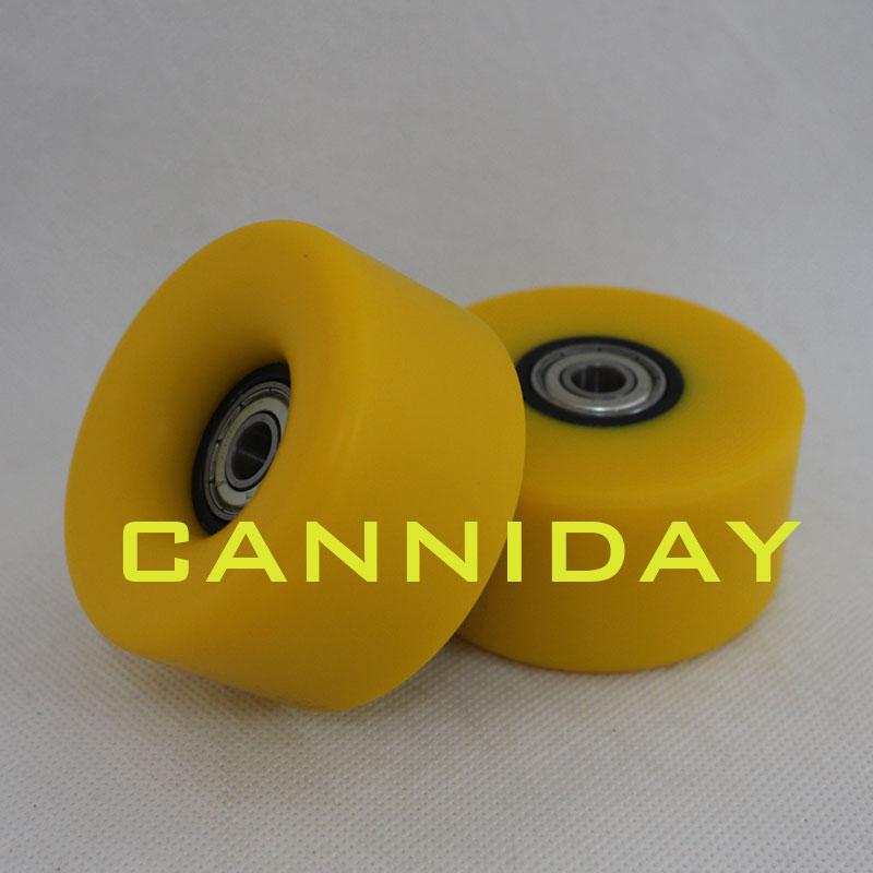 Free shipping 8PCS high quality Double skate wheels double wheel roller skates PU wheels