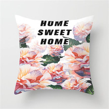 Fuwatacchi Home Decor Watercolor Floral Printing Cushion Cover Leaf Flower Pillowcase For Cafe Car Sofa Bedroom Pillows