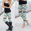 2017 Summer Style Casual Leggings Women Print Pants Capris Women Leggins Thin and Soft Legging High Quality workout leggings#5