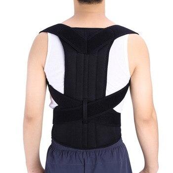 Postura Corrector Suporte de Ombro ajustável Unisex Cinto de Dor Nas Costas Brace Banda Corpo Correta Postura Voltar Belt Desgaste Confortável