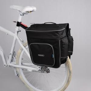 Image 2 - ROSWHEEL 30L Trunk Bag Pannier Radfahren Fahrrad Schwarz Hinten Fahrrad Tasche Bike Double Side Gepäckträger Schwanz Sitz Pannier Außen tasche