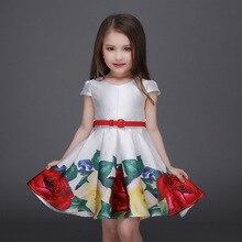 2016 Baby Girls Print Floral Dresses Kids Girl Autumn Princess Dress Babies Cotton tutu Party Dress