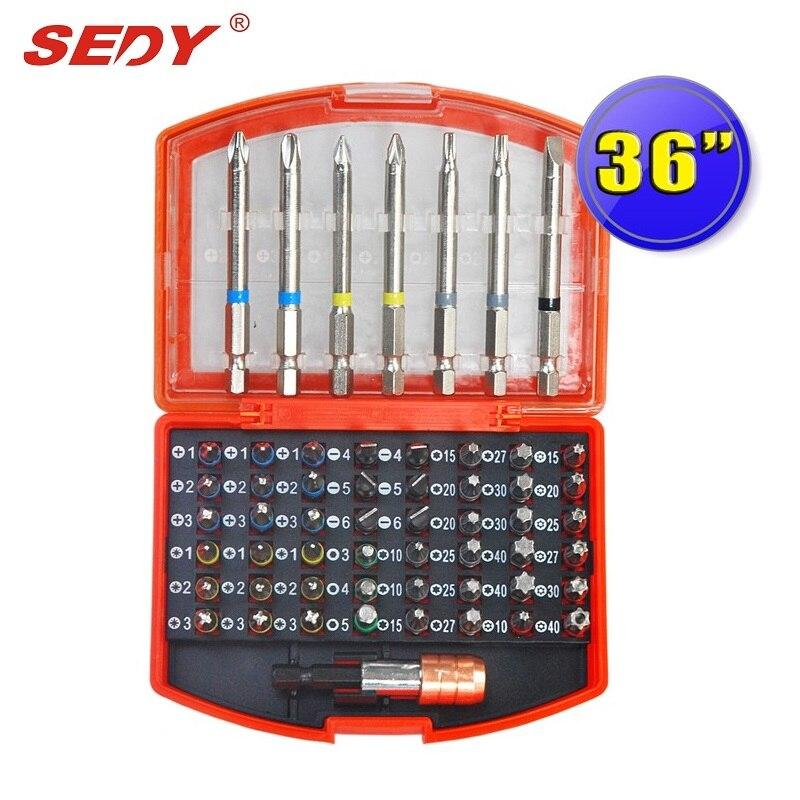 36 Pieces Professional Screwdriver Bits Set PH PZ SL Hex Torx with Magnetic Hex Holder