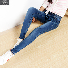 Ripped Jeans For Women Real 2016 Autumn New Women High Waist Skinny Jeans Pants Feet Tidal Stretch Was Thin Pencil Trousers