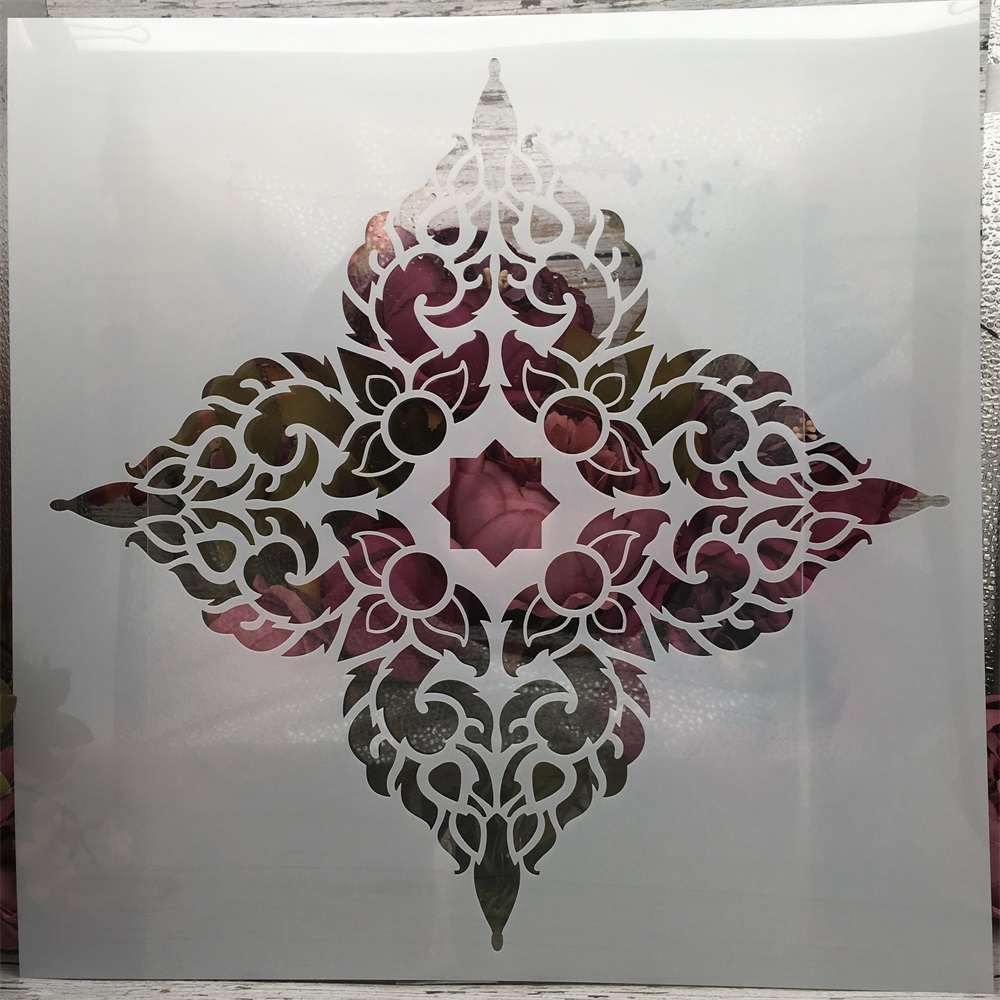 30*30cm Flower Mandala Clover DIY Layering Stencils Painting Scrapbook Coloring Embossing Album Decorative Template