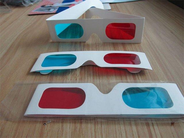 750a52449 Papel de parede P-02 ciano óculos 3D / azul papel cartão 3D 3D Anaglyph