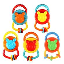 Cute Infant Toy Plastic Handball Rattle Toy Puzzle Trumpet Newborn Baby Play Game Shaking Bell Puzzle Toy Ideal Gift Girls Boys