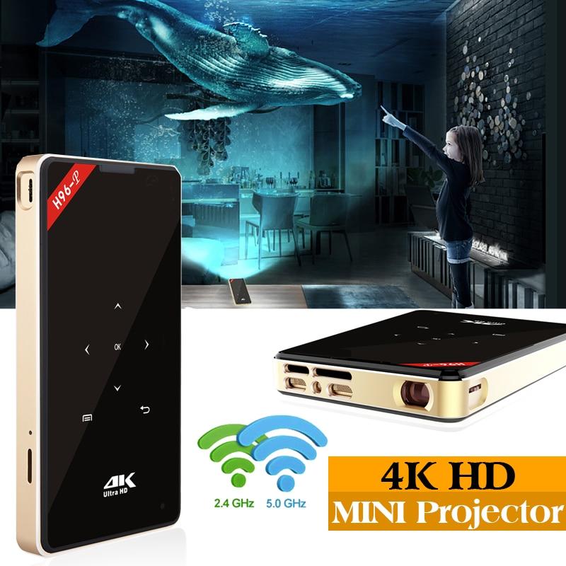 1 pc H96 Projecteur 2g 16g S905X maison H96-P Mini projecteur De poche Portatif Projecteur DLP Android proyector