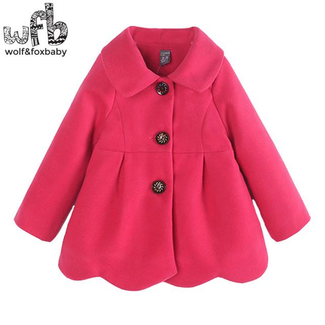 Venta al por menor 2-8 años abrigos Espesados full-mangas bow-knot kids color sólido resorte de la ropa de otoño otoño invierno