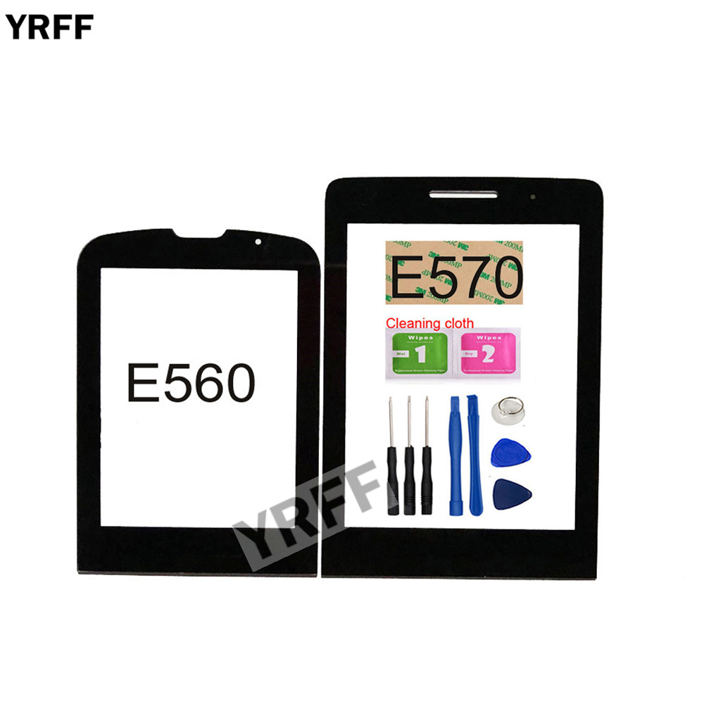 Mobile Front Panel Glass For <font><b>Philips</b></font> E570 <font><b>E560</b></font> Front Glass (No Touch Screen Digitizer Panel ) Outer Glass Panel Replacement image
