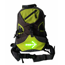 Cycling Bicycle Reflective 10L LED Backpack Bike Backpack LED Wireless  Safety Turnning Signal Light Bag For b9cb63b43d2c7