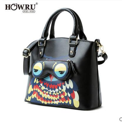 Free shipping Japan and South Korea new fashion tide Stayed Meng owl Shoulder Messenger handbag sata usb 3 0 blue orange hdd case with 250g hard disk heating release rubber case 2 5 fast reading speed case