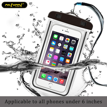 Universal swim waterproof case for phone pouch fluorescent iPhone xiaomi Mobile Case Bag