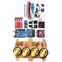 Power Module 4 Wheel Smart Robot Car Chassis Kits HC SR04 Sonic Tracking Module DIY Tool Compatible For Arduino Module