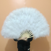 Hot Sale Dance Turkey Feathers Hand Fans,Wholesale Personalized Bamboo Fan Of Old Wedding Decoration 24
