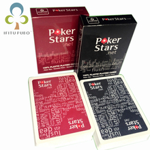 2pcs/set New Baccarat Texas Hold'em Giant Plastic Playing Waterproof Poker Cards Poker Stars Letters Game Cards for Poker WYQ