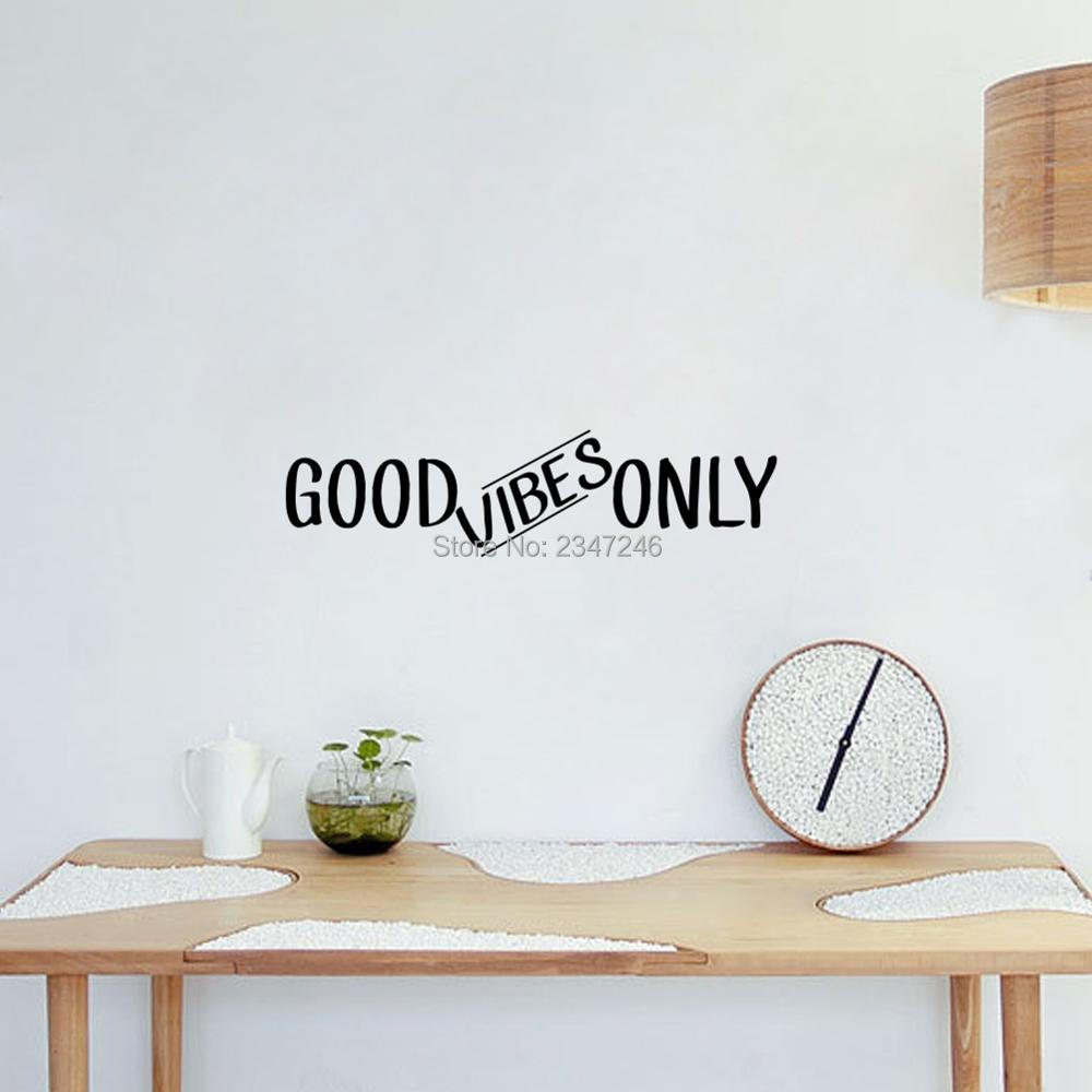 Good Vibes Only Quotes Wall Decal Art Vinyl Lettering Sticker for Office Bedroom Living Room Decor image
