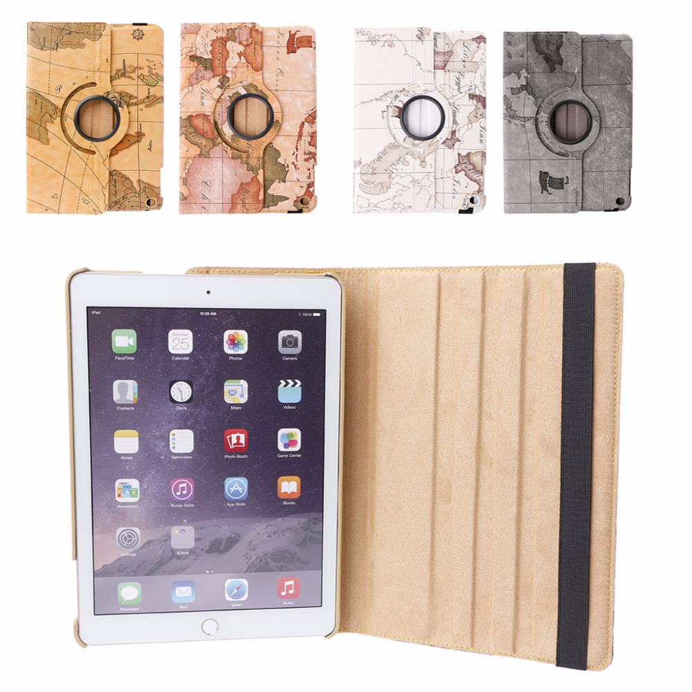 360 Degree Rotation Stand Faux Leather Case For iPad Air/Air 2/New iPad 9.7 With Auto Wake Up/Sleep Function Smart Cover levett caesar prostate massager for 360 degree rotation g spot
