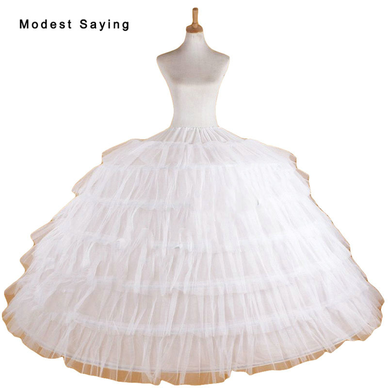 Luxury Puffy 6 Hoops Petticoat Underskirt For Big Ball Gown Wedding Dresses 2018 Prom Gowns Wedding Accessory Crinoline In Stock