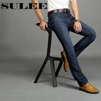 Sulee Brand Autumn Winter Straight Distressed Jeans European Denim Jeans Heavyweight Italian Style Men S Biker