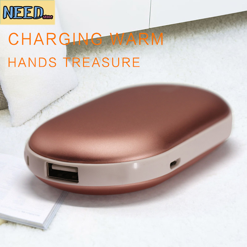Hand Warmer Pocket Rechargeable Portable Mini 5V USB Winter <font><b>Powered</b></font> Bank Double Heating Electric Explosion-proof Stove Warmer Po