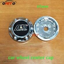 Для ABT логотип 4 шт. 65 мм колеса пыленепроницаемые крышки с эмблемами эмблема логотип Чехлы для Volkswagen Golf 5 6 7 MK6 MK7